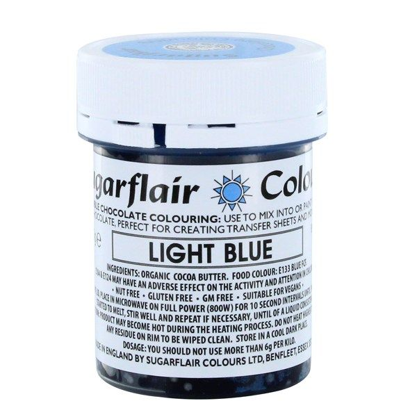 COLOUR-SUGARFLAIR-CHOC-LIGHT BLUE-35g