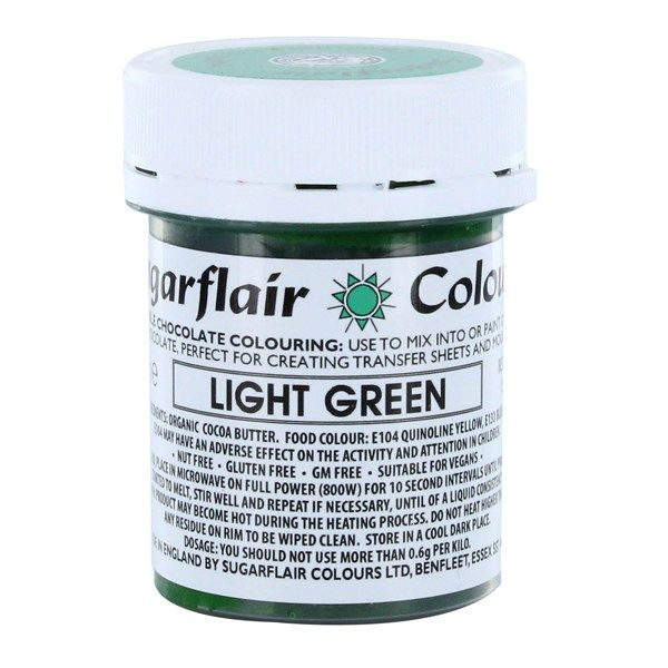 COLOUR-SUGARFLAIR-CHOC-LIGHT GREEN-35g