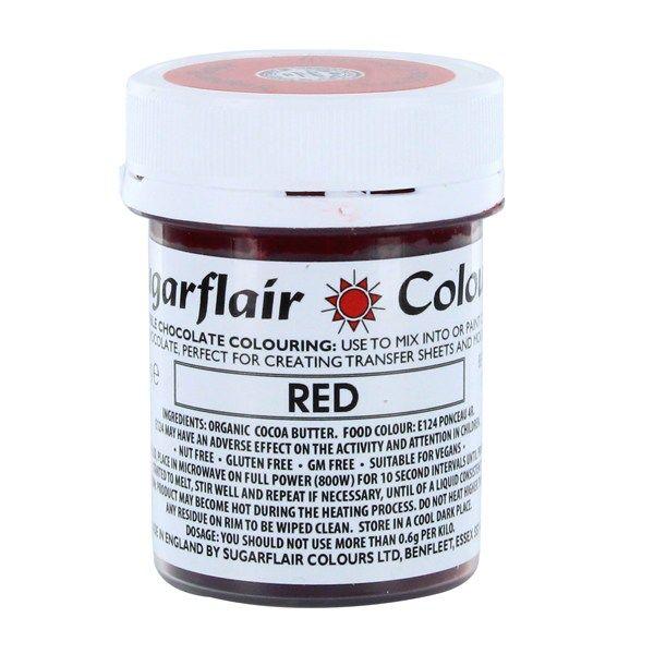 COLOUR-SUGARFLAIR-CHOC-RED-35g
