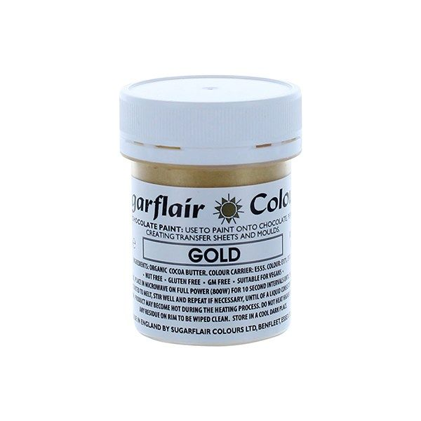 COLOUR-SUGARFLAIR-CHOC PAINT-GOLD-35g