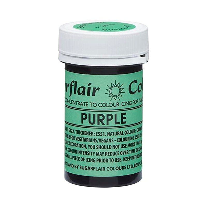 SUGARFLAIR: COLOUR-NATRADI PASTE CONCENTR-PURPLE-25g