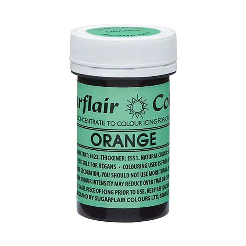 SUGARFLAIR: COLOUR-NATRADI PASTE CONCENTR-ORANGE-25g