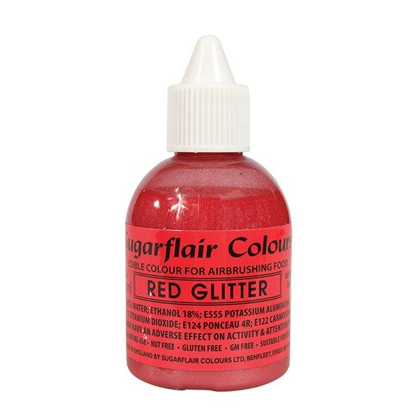 COLOUR-SUGARFLAIR-AIRBRUSH-RED GLIT-60ml