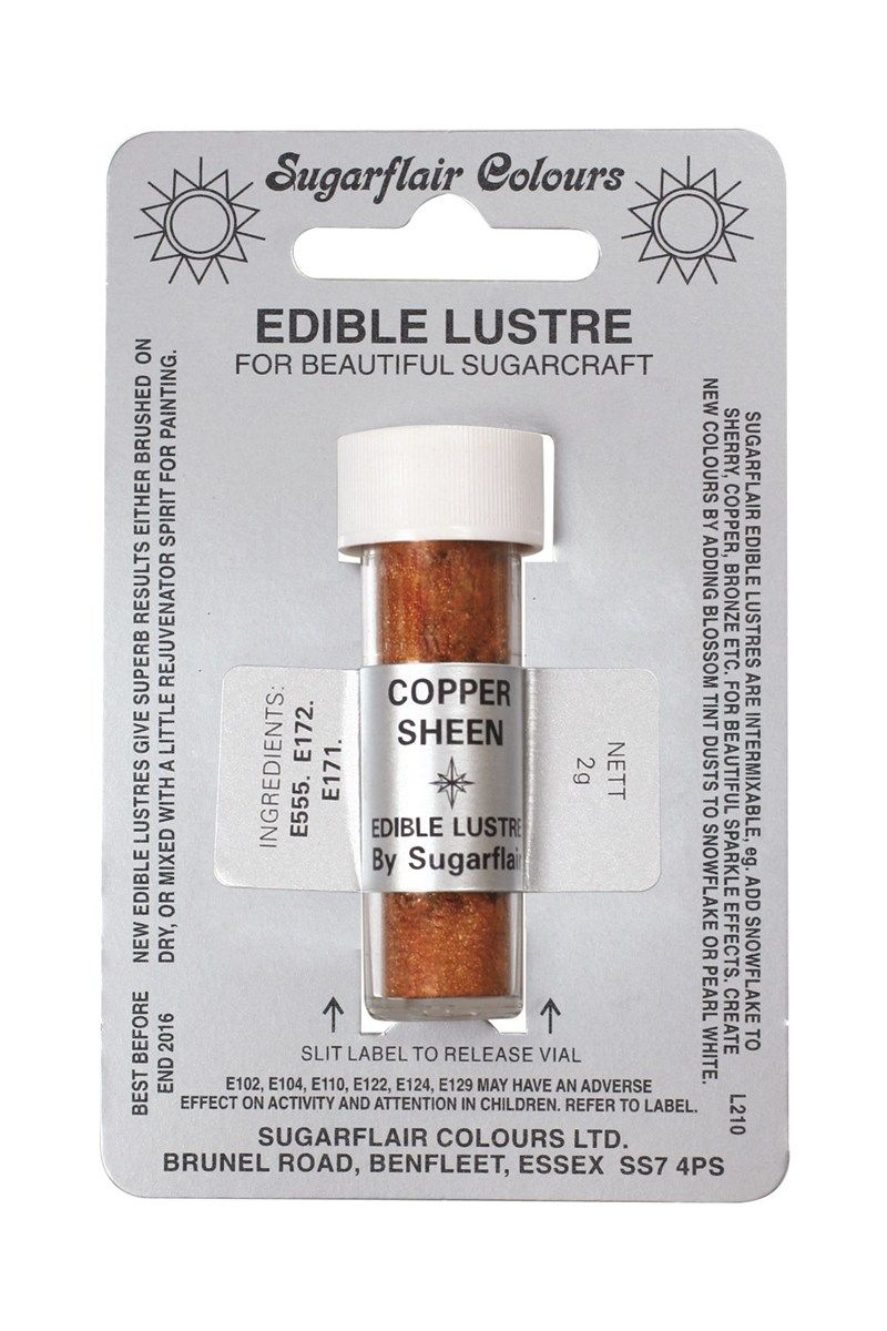 COLOUR-SUGARFLAIR-LUSTRE-COPPER SHEEN-2g