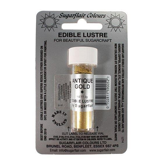 Sugarflair Edible Lustre Colour - Antique Gold. 54422