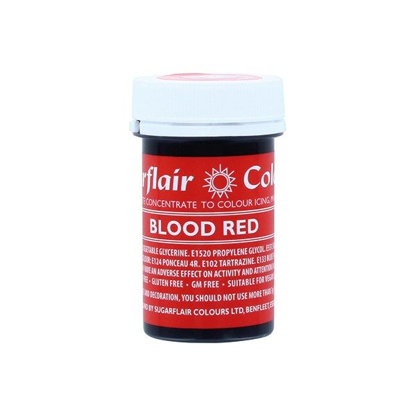 SUGARFLAIR: COLOUR-SPECTRAL PASTE-BLOOD RED-25g