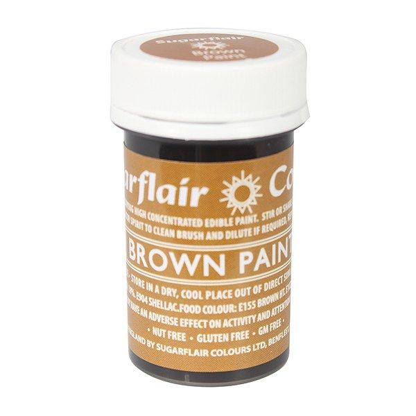 EDIBLE-SUGARFLAIR-PAINT-BROWN-20g