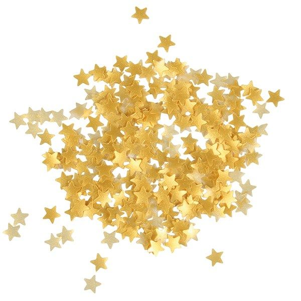 EDIBLE-SUGARFLAIR-STARS-METALLIC GOLD-3g