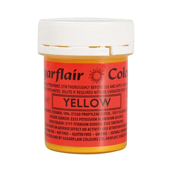 COLOUR-SUGARFLAIR-GLITTER PAINT-YELL-35g