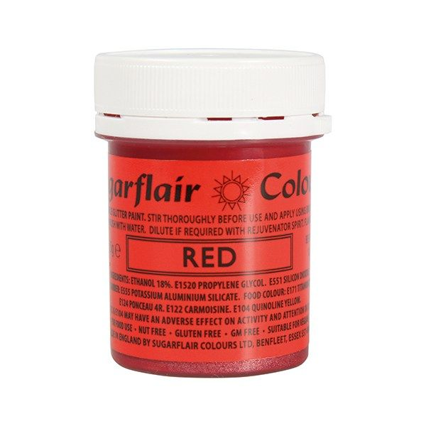 COLOUR-SUGARFLAIR-GLITTER PAINT-RED-35g