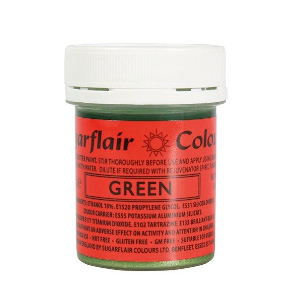 COLOUR-SUGARFLAIR-GLITTER PAINT-GRN-35g