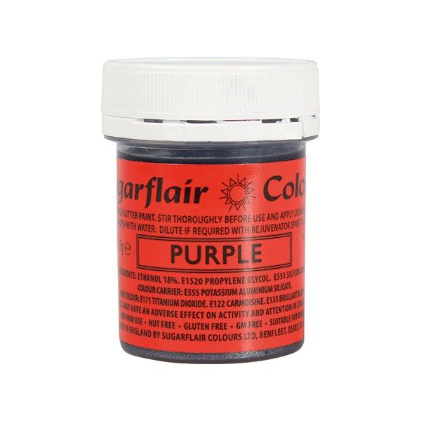 COLOUR-SUGARFLAIR-GLITTER PAINT-PURP-35g