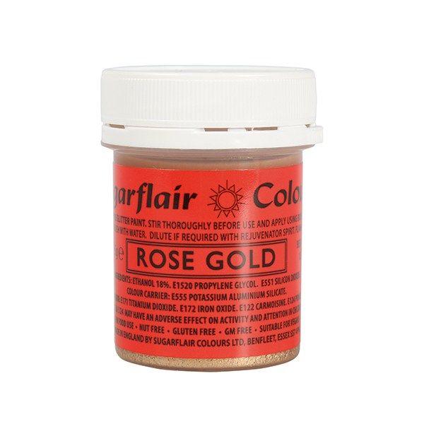 COLOUR-SUGARFLAIR-GLTTR PAINT-R GOLD-35g