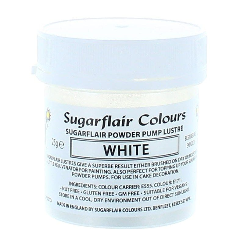 COLOUR-SUGARFLAIR-LUSTRE-WHITE-25g