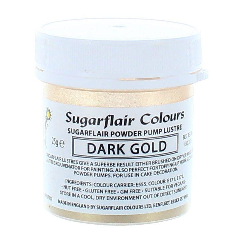 COLOUR-SUGARFLAIR-LUSTRE-DARK GOLD-25g