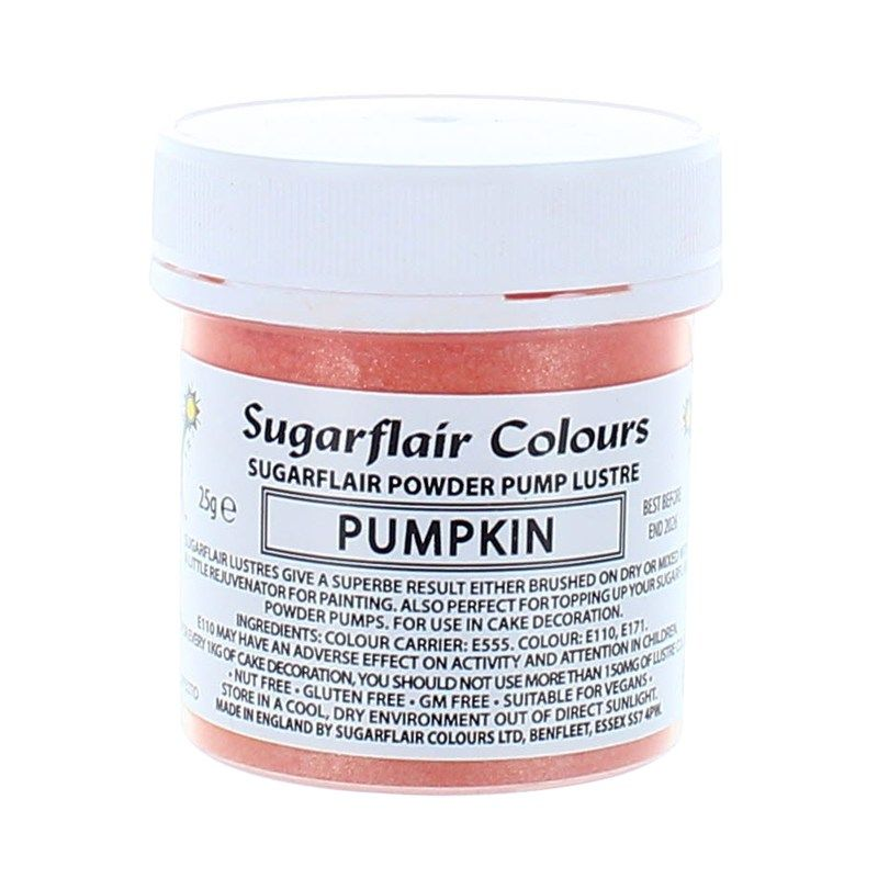 COLOUR-SUGARFLAIR-LUSTRE-PUMPKIN-25g