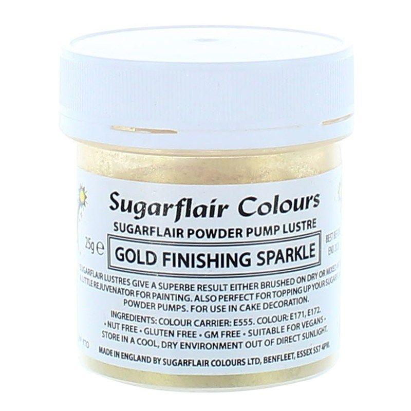 COLOUR-SUGARFLAIR-LUSTRE-SPARKL GOLD-25g