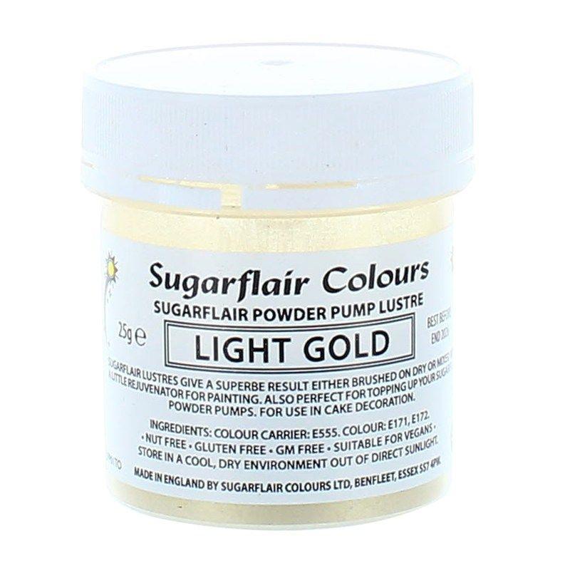 COLOUR-SUGARFLAIR-LUSTRE-LIGHT GOLD-25g
