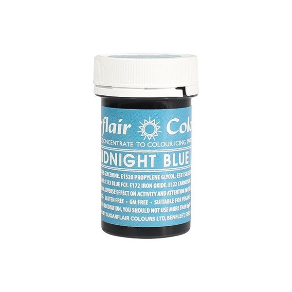 SUGARFLAIR: COLOUR-SPECTRAL PASTE-MIDNIGHT BLUE-25g