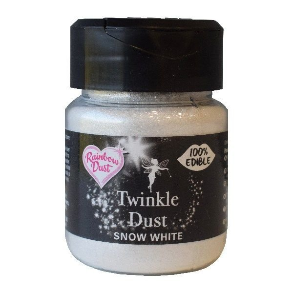 SUGARFLAIR: COLOUR-RD-TWINKLE DUST-SNOW WHTE-LSE-25g