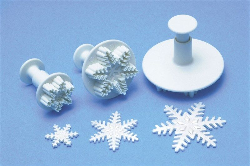 CUTTER-PME-SNOWFLAKE PLUNGER-3SET