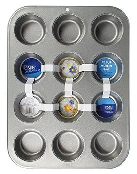 TIN-PME-12CUP MUFFIN-450 x 265 x 50mm