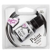 Rainbow Dust Edible Food Paint - Black - RP