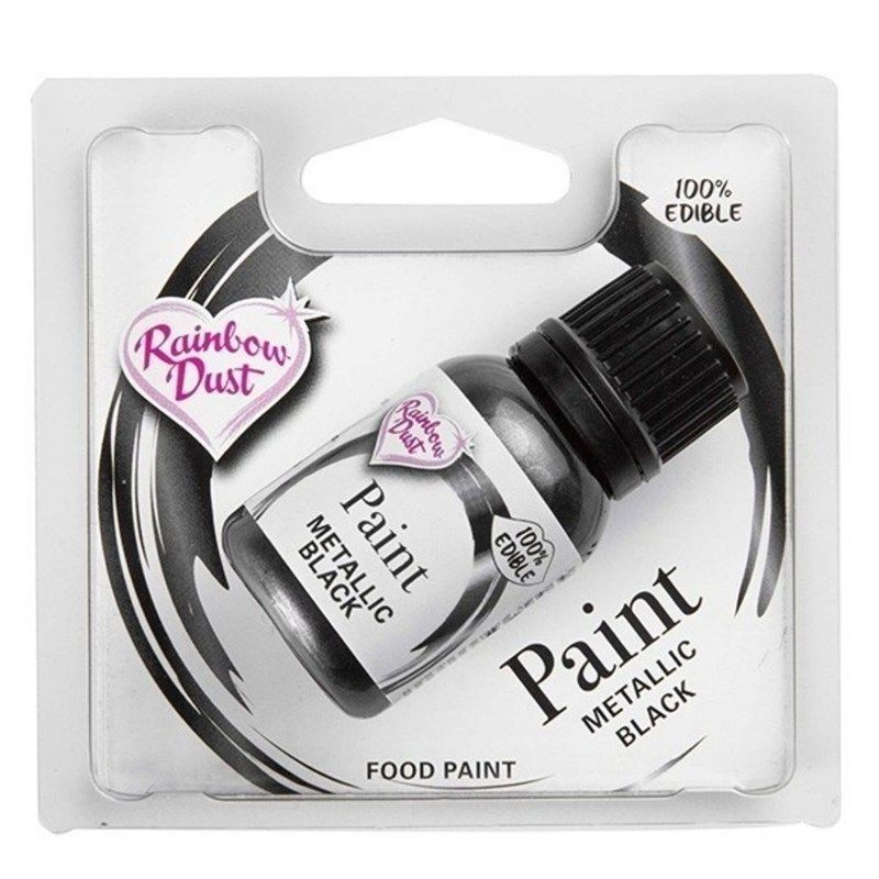 Rainbow Dust Edible Food Paint - Black - RP