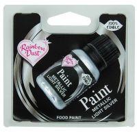 850047  Rainbow Dust Edible Food Paint - Metallic - Light Silver - Retail Pack