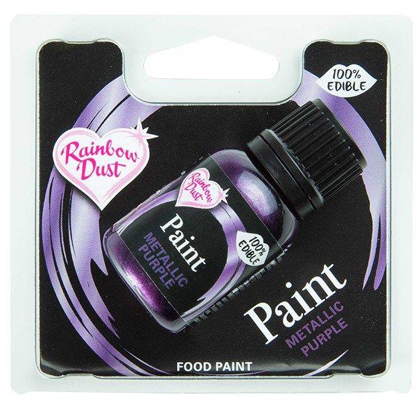 Rainbow Dust Edible Food Paint - Metallic - Purple - Retail Pack. 850049