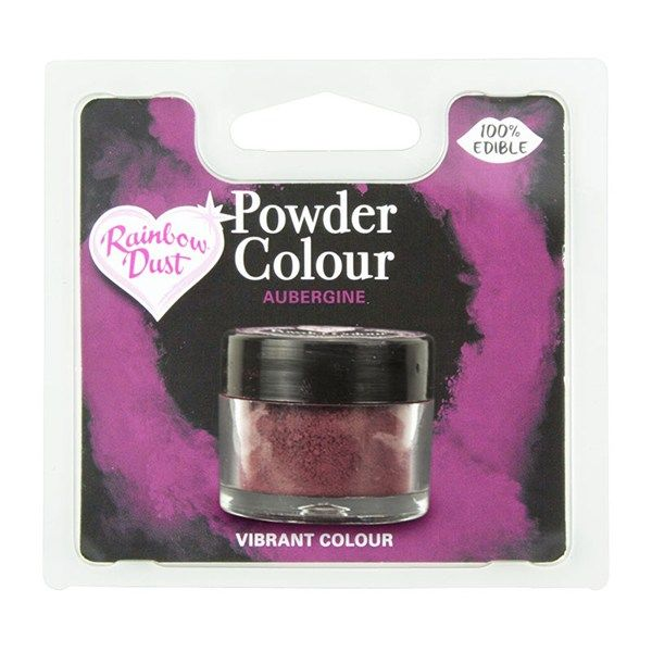 Rainbow Dust Powder Colour - Aubergine - Retail Pack. 850062