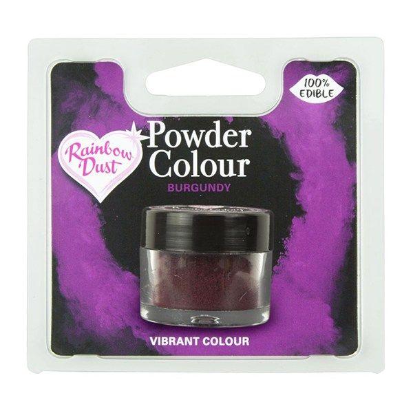 Rainbow Dust Powder Colour - Burgundy - Retail Pack. 850065
