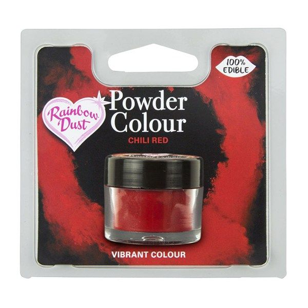 Rainbow Dust Powder Colour - Chilli Red - Retail Pack