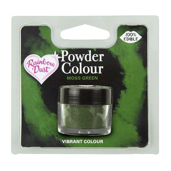 Rainbow Dust Powder Colour - Moss Green - Retail Pack