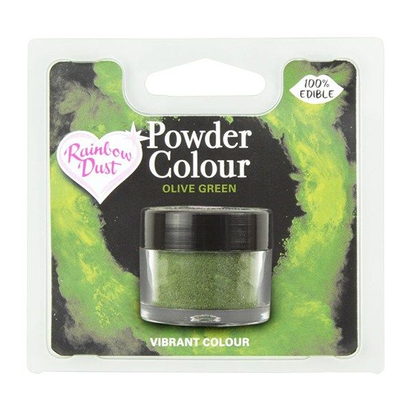 Rainbow Dust Powder Colour - Olive Green - Retail Pack