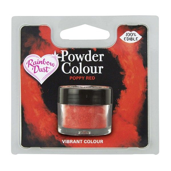 Rainbow Dust Powder Colour - Poppy Red - Retail Pack