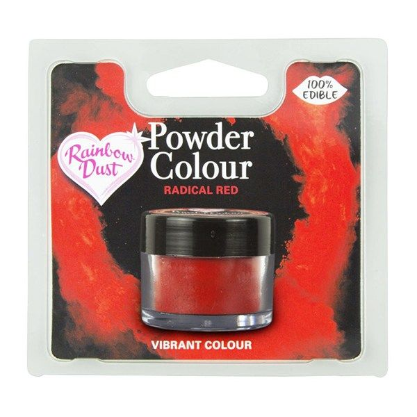 Rainbow Dust Powder Colour - Radical Red - Retail Pack