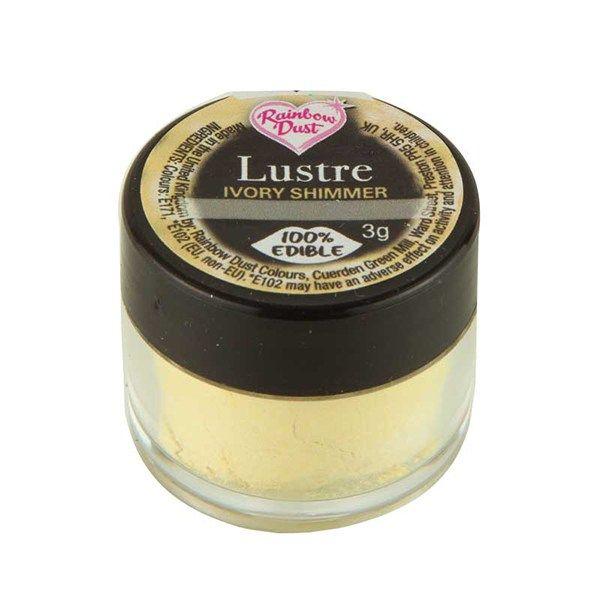 Rainbow Dust Edible Silk Range - Shimmer Ivory - Loose Pot