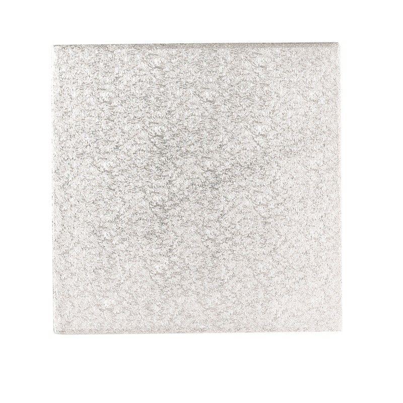 CULPITT: CARD-DBLE THICK-SQ-SILVER-254mm (10