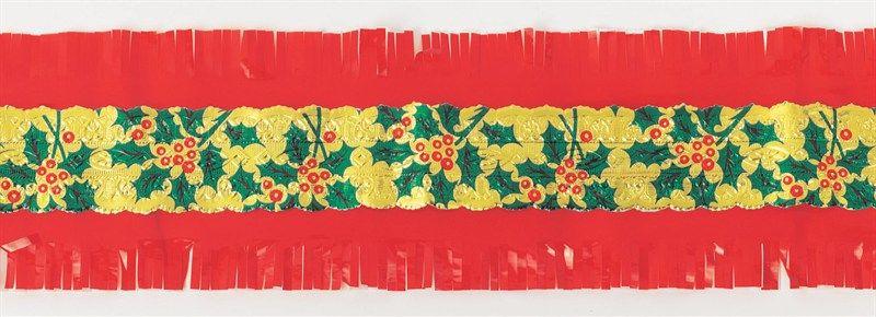CULPITT: FRILL-HOLLY CENTRE-RED-64mm x 7.33m