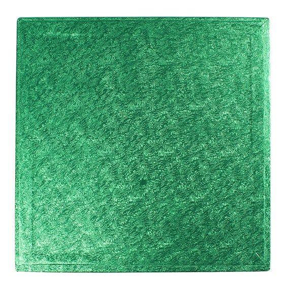 "CULPITT 10"" (254mm) Cake Board Square Green - PACK OF 5. GNSWD10"