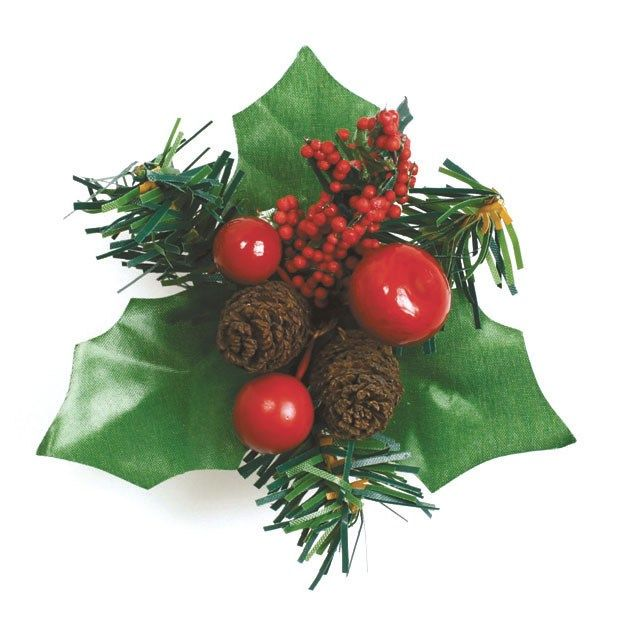 CULPITT Berry and Fircone Holly - 70mm - PACK OF 50. H194