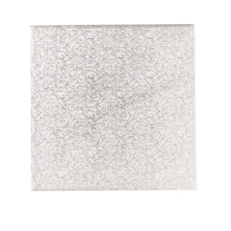 """CULPITT 11"""" (279mm) Double Thick Square Turn Edge Cake Cards Silver Fern (3mm thick) - Individually Wrapped - OUTLET - PACK OF 5. IDTS11OUTLET"""
