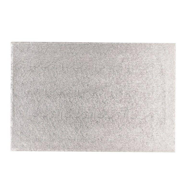 "CULPITT 16"" x 14"" (406 x 355mm) Hardboard Rectangle Turn Edge Cards Silver Fern (3mm thick) - PACK OF 5. MHS16X14F"