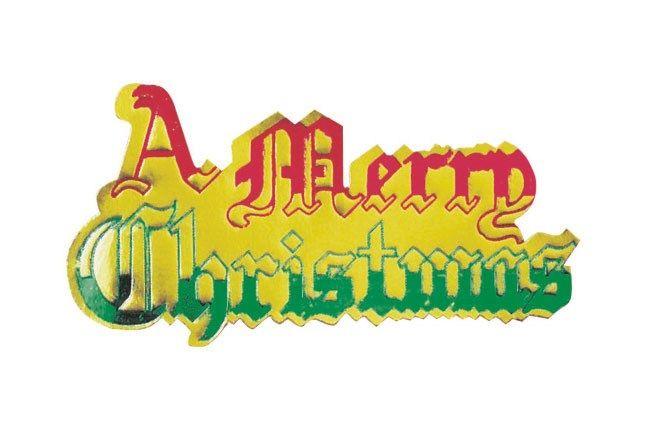 CULPITT A Merry Christmas Paper Motto - 63mm - PACK OF 100. PM10