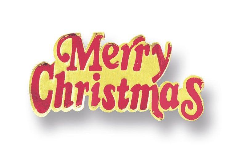 CULPITT: MOTTO-MERRY CHRISTMAS-PAPER-RED/GLD-76mm