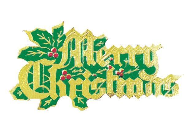 CULPITT: MOTTO-MERRY CHRISTMAS & HOLLY-PAPER-70mm