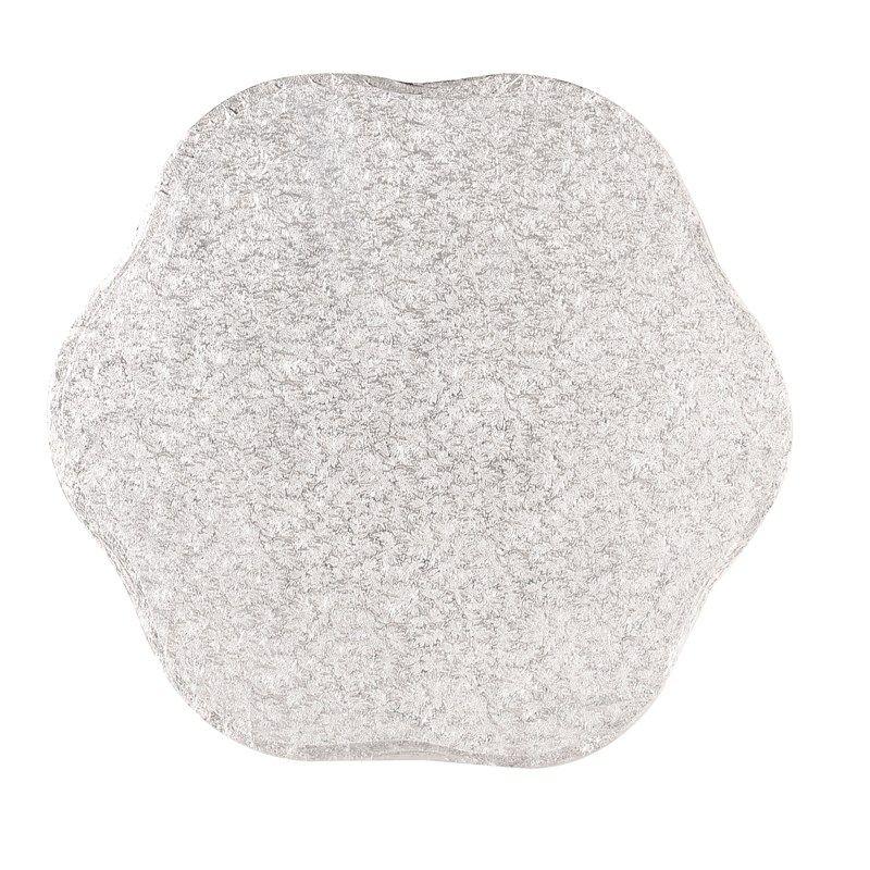 """CULPITT 10"""" (254mm) Cake Board Petal Silver Fern - PACK OF 5. PTD10"""