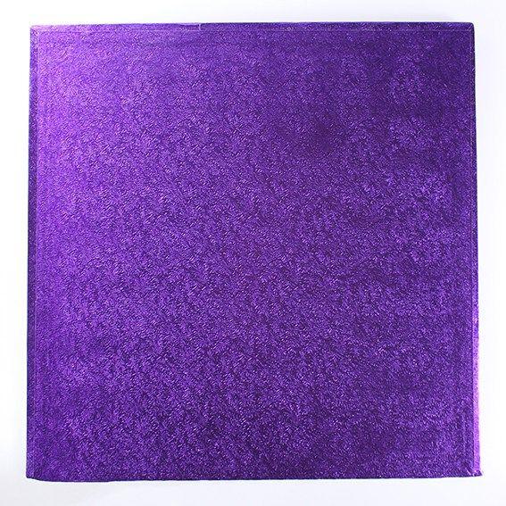 "CULPITT 10"" (254mm) Cake Board Square Purple - PACK OF 5. PUSWD10"