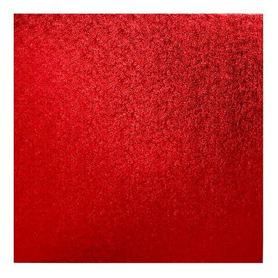 """CULPITT 10"""" (254mm) Cake Board Square Red - PACK OF 5. RSWD10"""